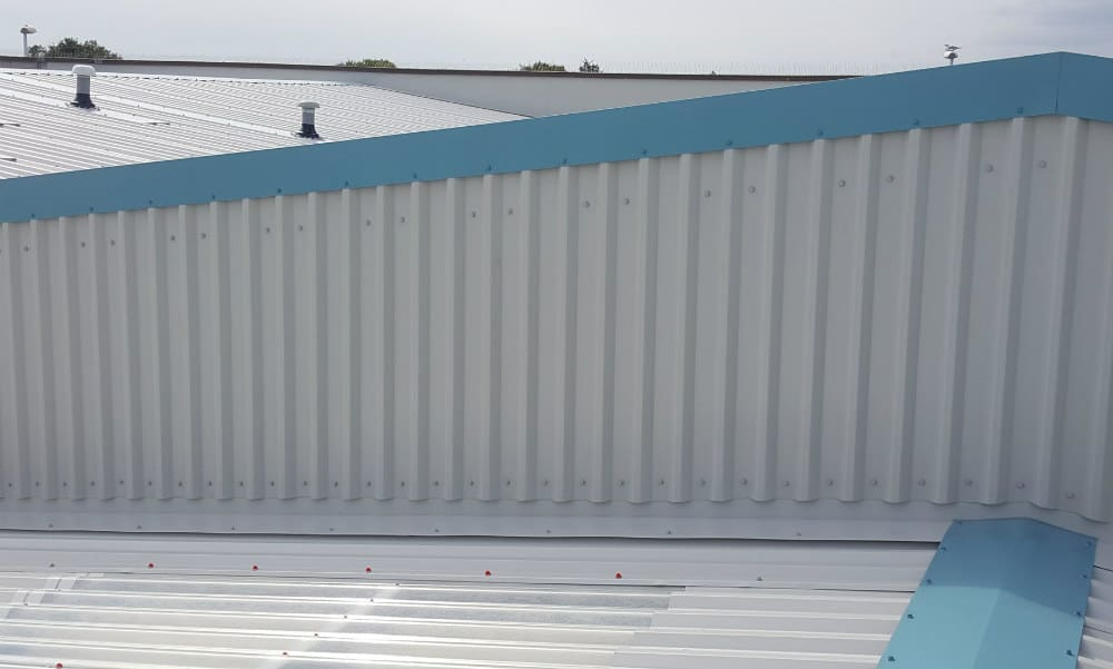 Over Roofing To A Factory Roof In Worthing West Sussex