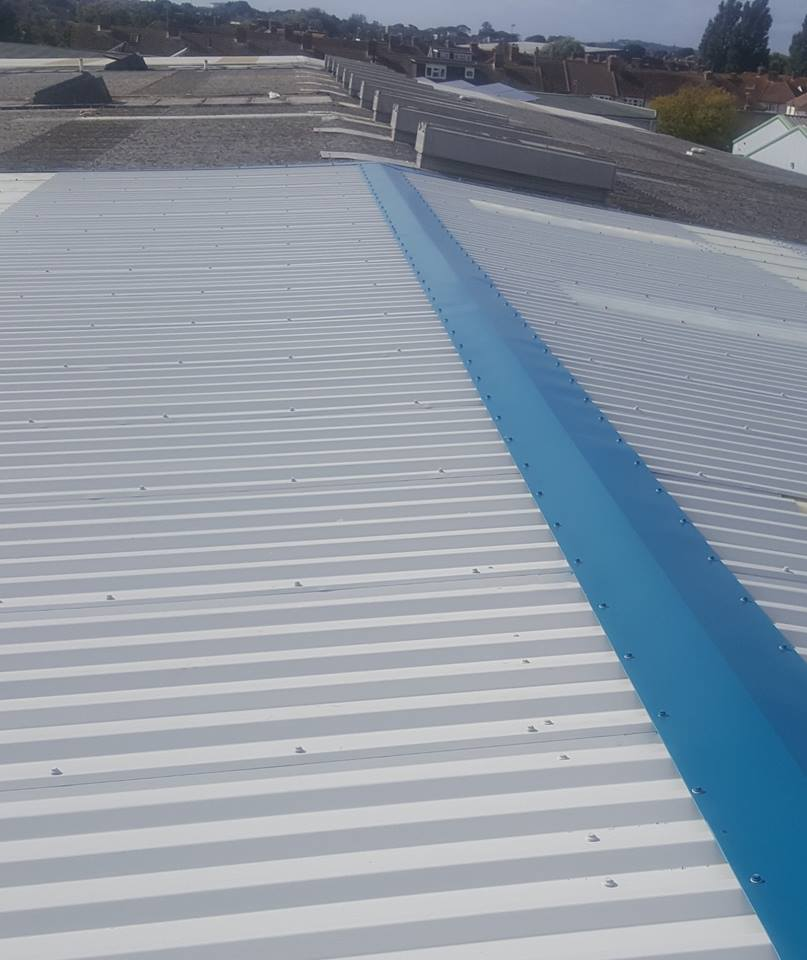 Over Roofing to a Factory Warehouse Roof in Worthing, West Sussex 1