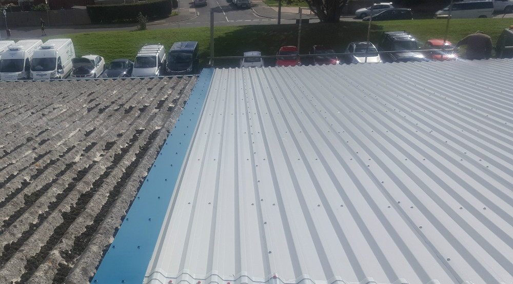 Over Roofing to a Factory Warehouse Roof in Worthing, West Sussex 3