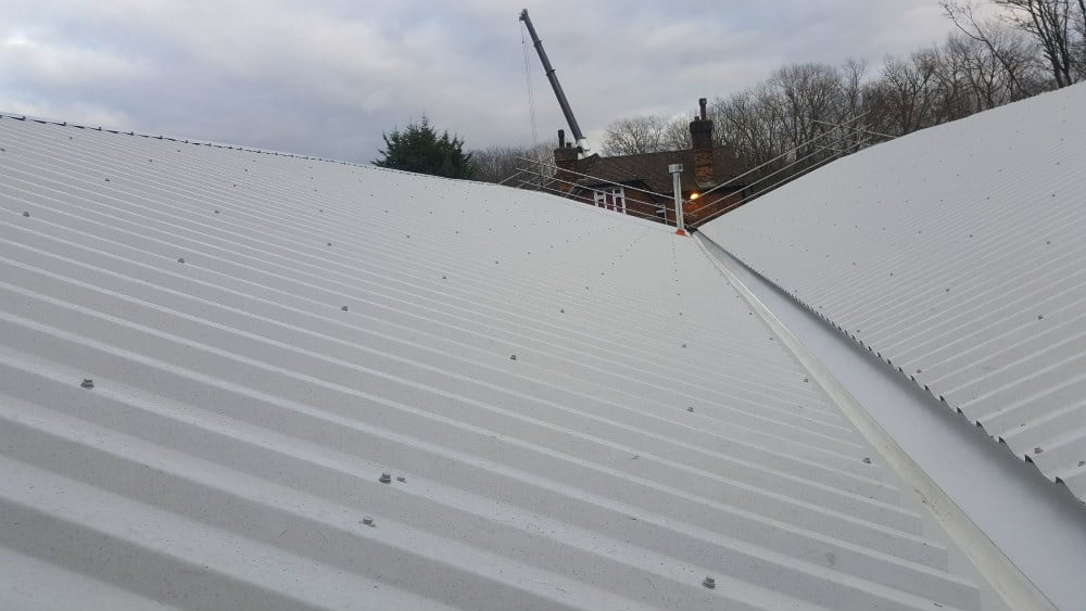 Over-Roofing-to-a-Workshop-Roof-in-Hersham-Surrey-2