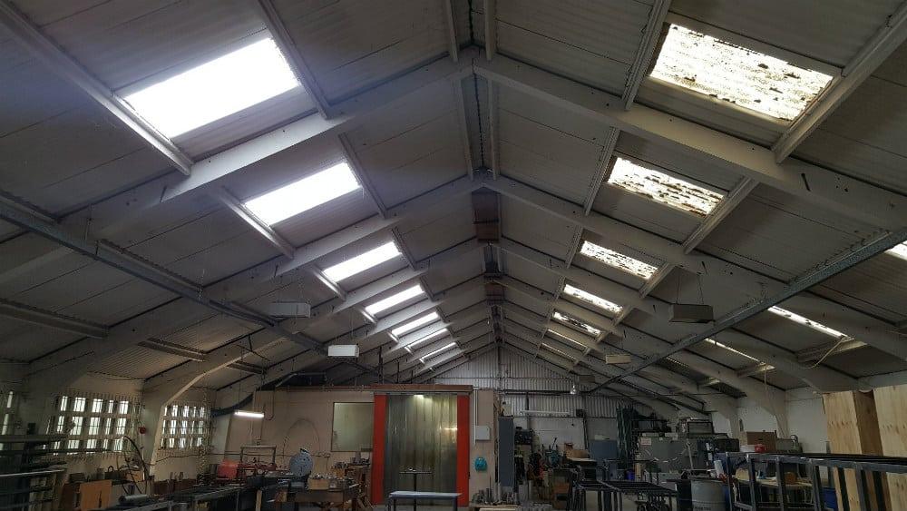 Roof Repair Work At A Factory In Benfleet Essex Scs