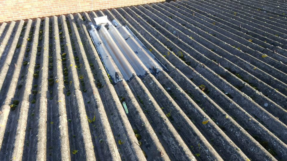 Repair Work To A Workshop Roof In Worthing West Sussex