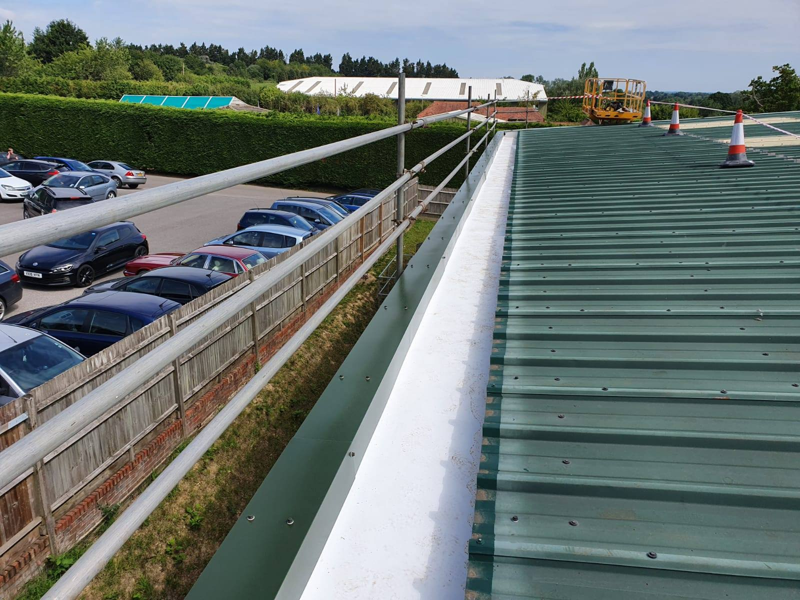 Guttering Contract to a Warehouse - Factory Roof in Washington, West Sussex 1