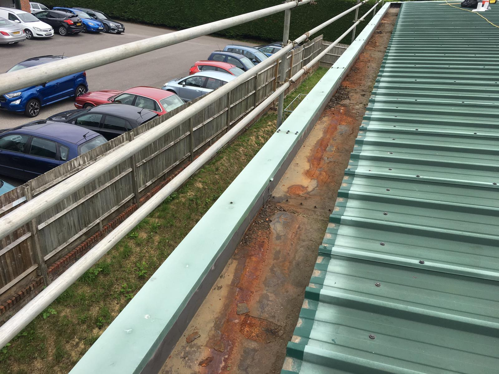 Guttering Contract to a Warehouse - Factory Roof in Washington, West Sussex 4