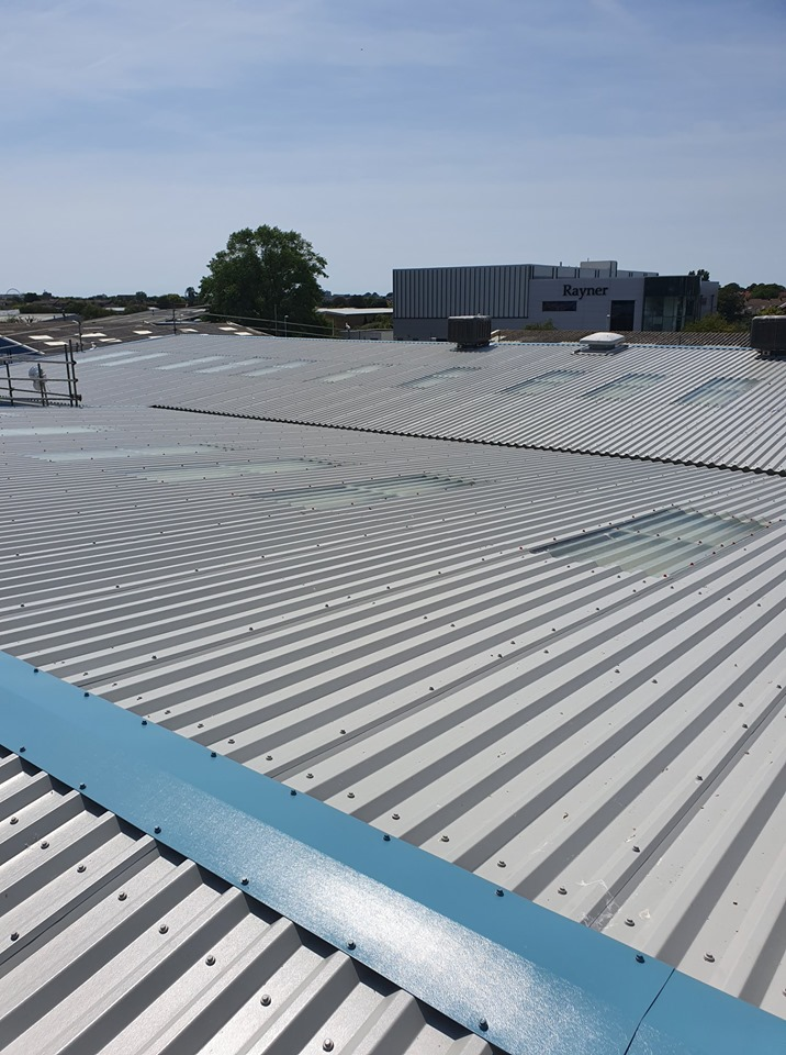 Over Roofing to a Factory Roof in Worthing, West Sussex 1