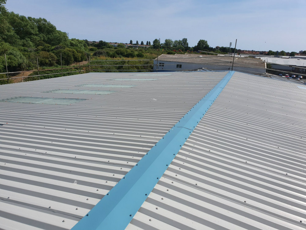 Over Roofing to a Factory Roof in Worthing West Sussex 3