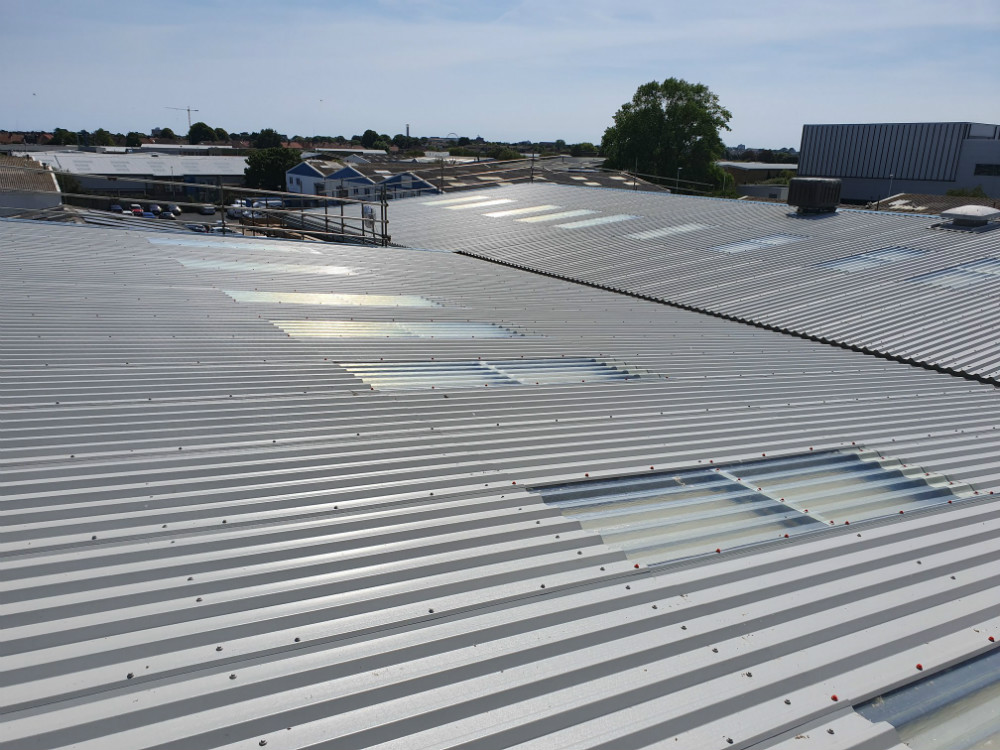 Over Roofing to a Factory Roof in Worthing West Sussex 4