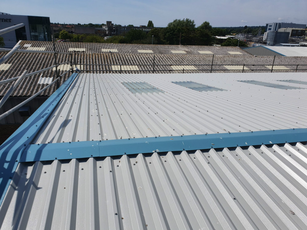 Over Roofing to a Factory Roof in Worthing West Sussex 5
