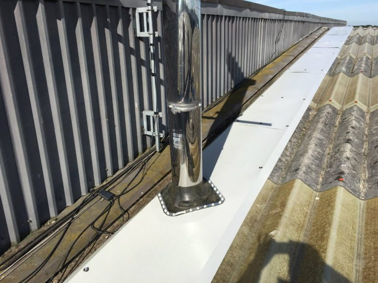 Roof Repair Work at a Factory in Swanley Kent 3