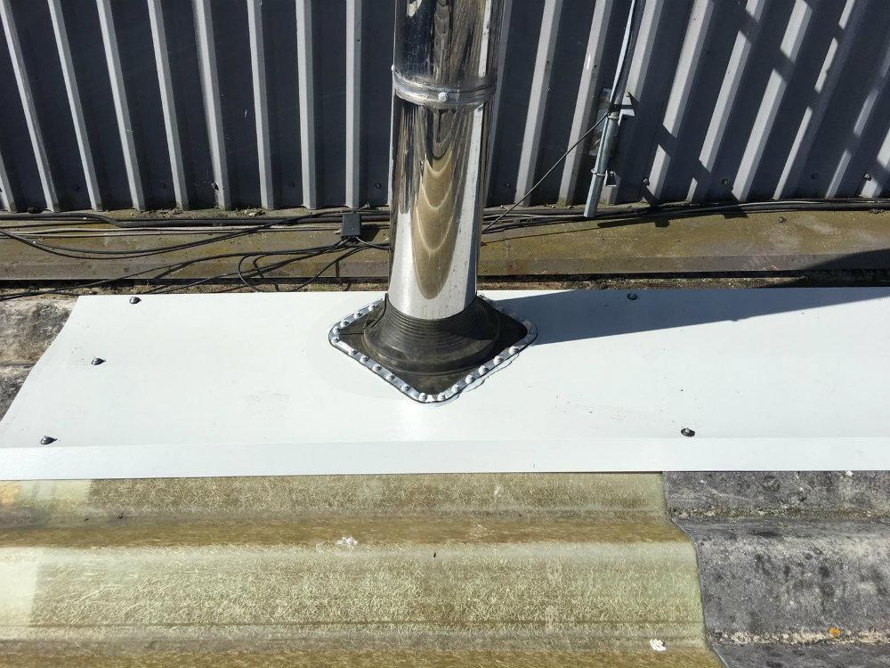 Roof Repair Work at a Factory in Swanley Kent