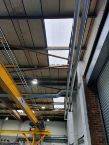 repair work at a factory and warehouse in Worthing West Sussex