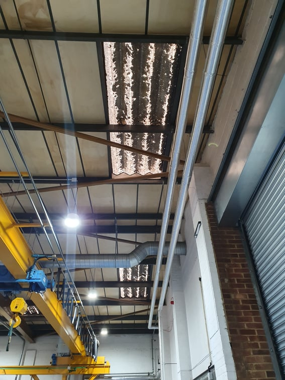 repairs to a factory and warehouse in Worthing West Sussex