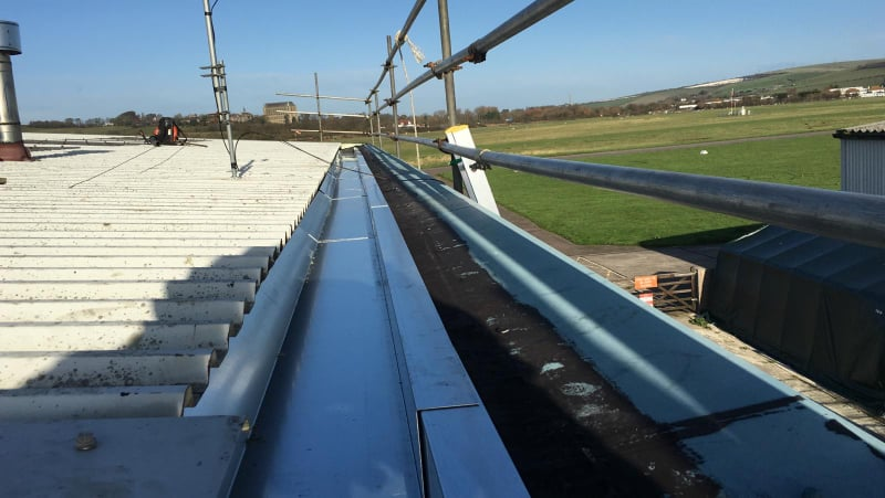 Gutter Repair Project for an Office at Brighton City Airport
