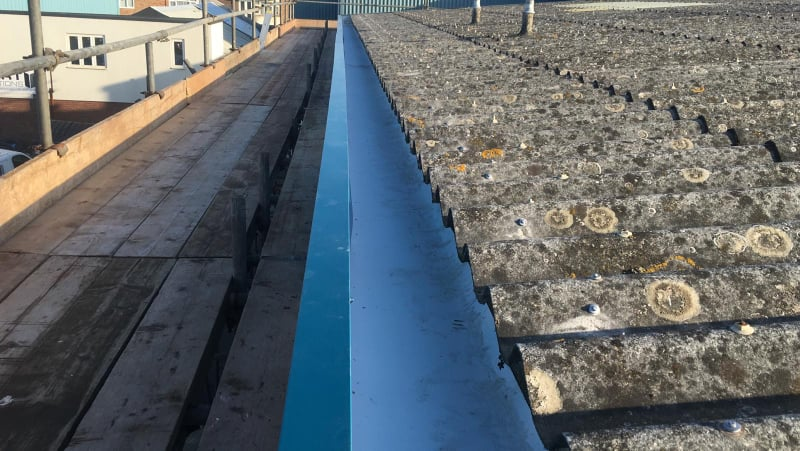 Guttering Contract to a Warehouse Roof in Southwick, West Sussex