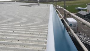 Guttering Repair Work Over Offices in Brighton City Airport, Shoreham, West Sussex