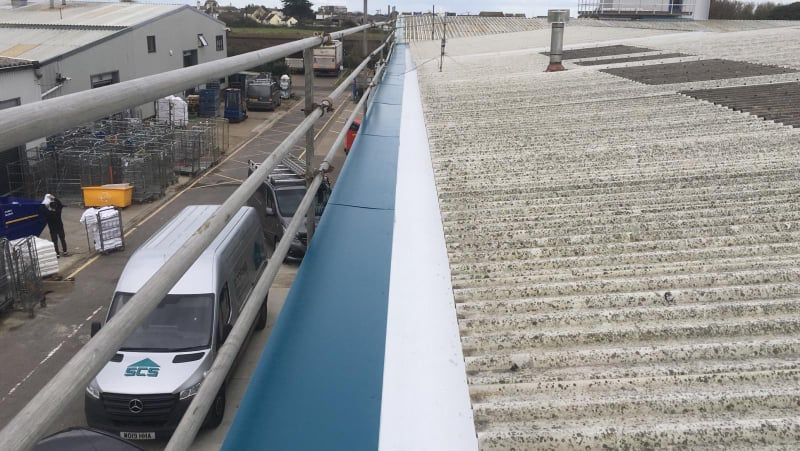 Office Gutter Replacement in Brighton City Airport, Shoreham, West Sussex