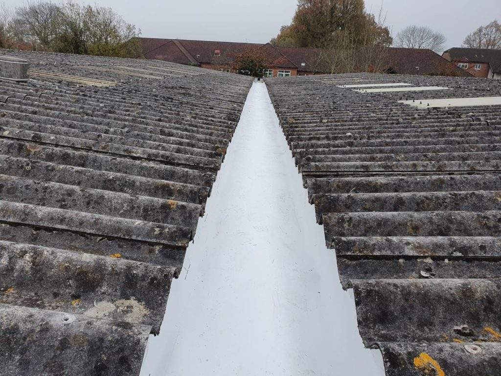 Repair Work to the Gutters and Roof on an Office Warehouse Roof in Edenbridge, Kent