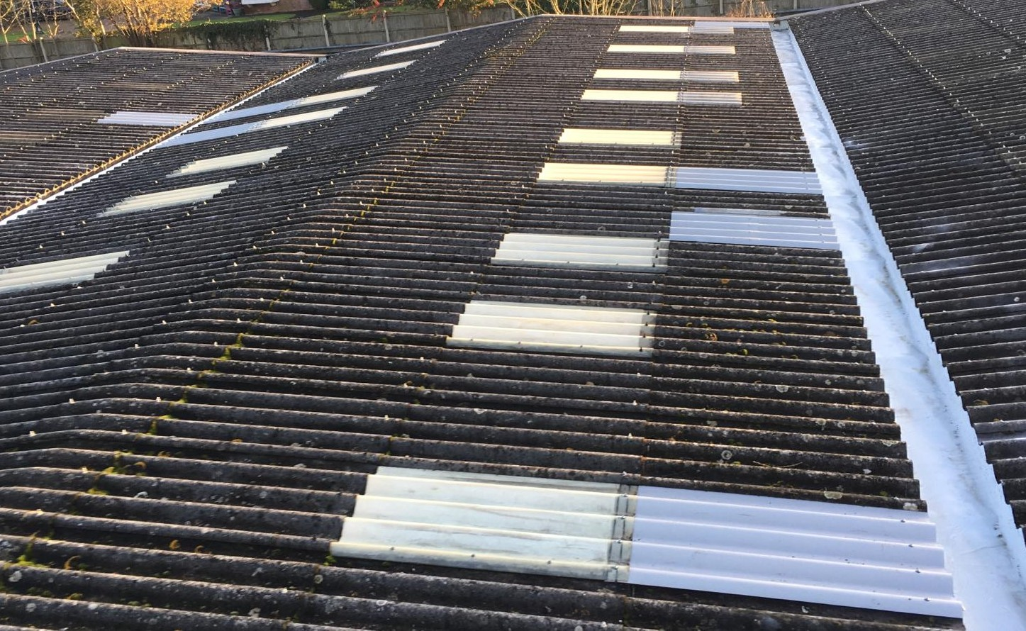 Repair to the Gutters and Roof on an Office Warehouse Roof in Edenbridge, Kent 4