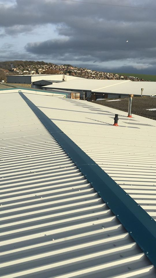 Over Roofing to a Factory Office Roof in Newhaven, East Sussex
