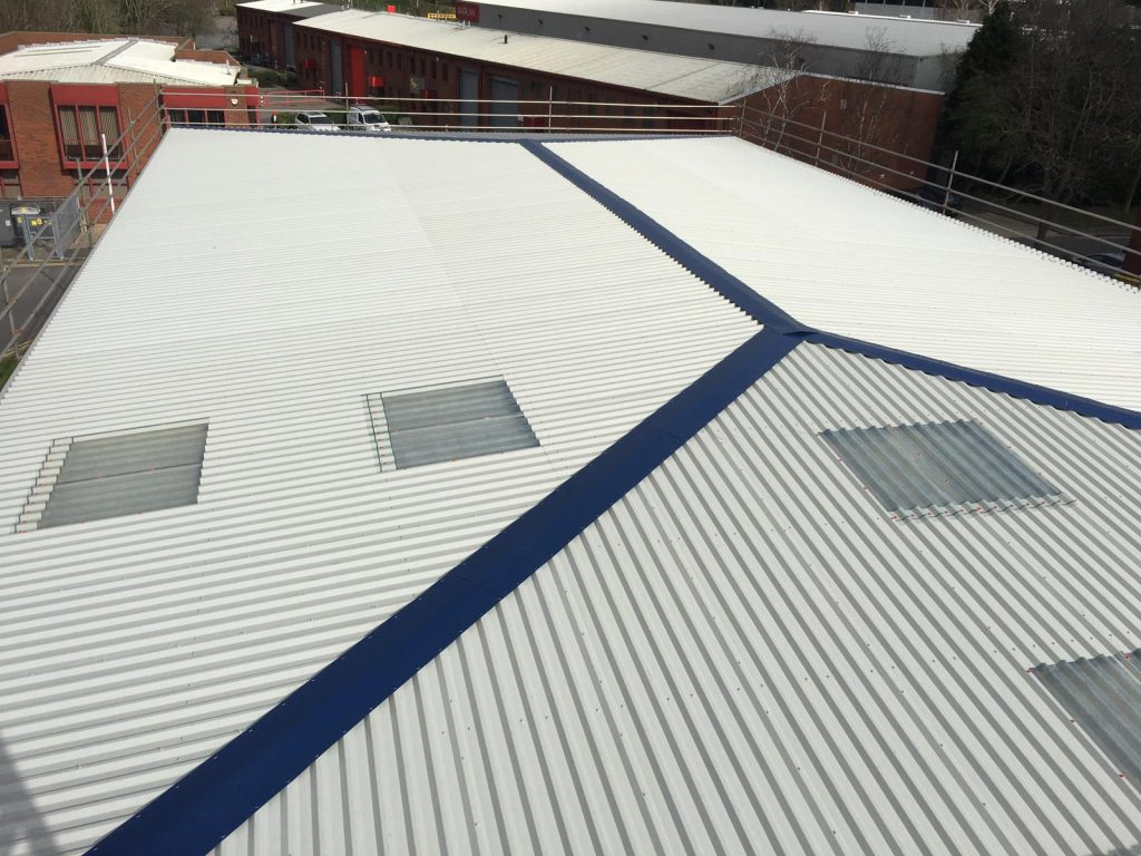 Over-Roofing to an Office Warehouse Roof in Camberley Surrey