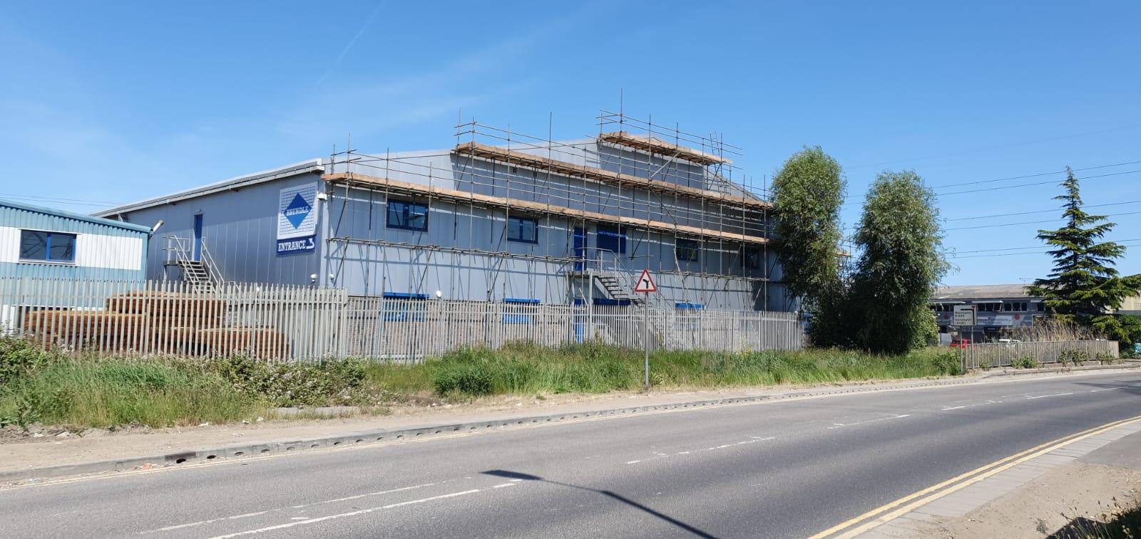 Warehouse roof in Rainham, Essex