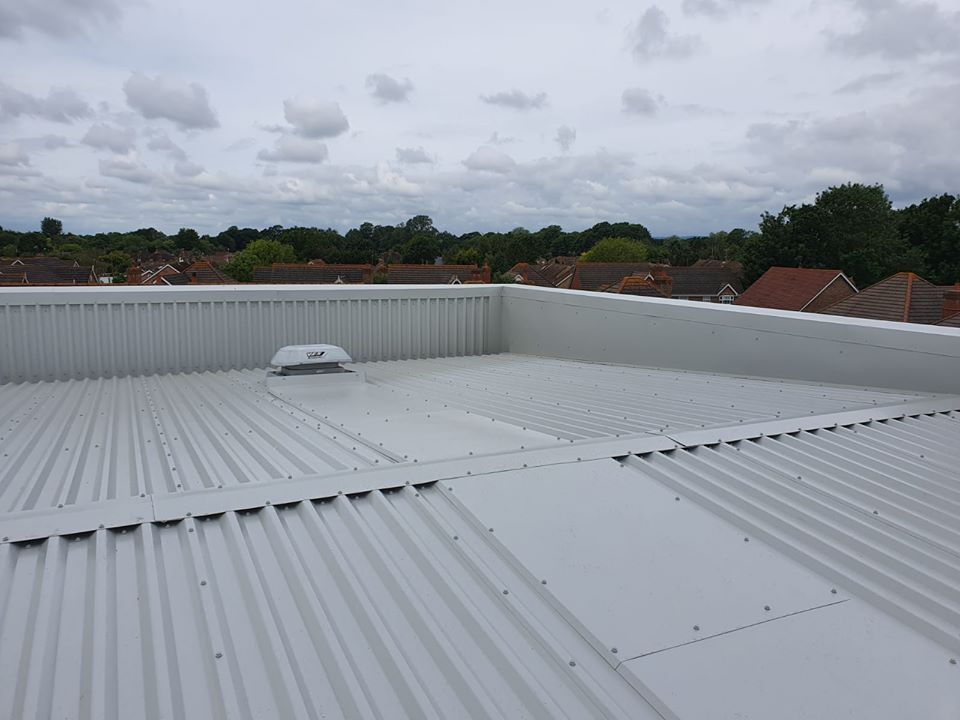 over-roofing project for a roof in a school at Westergate, Chichester, West Sussex