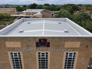 over-roofing to a roof in a school at Westergate, Chichester, West Sussex