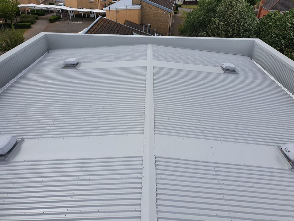 roof repair in a school at Westergate, Chichester, West Sussex