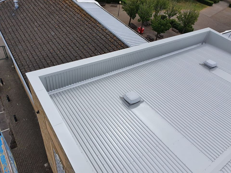 school roof repair at Westergate, Chichester, West Sussex