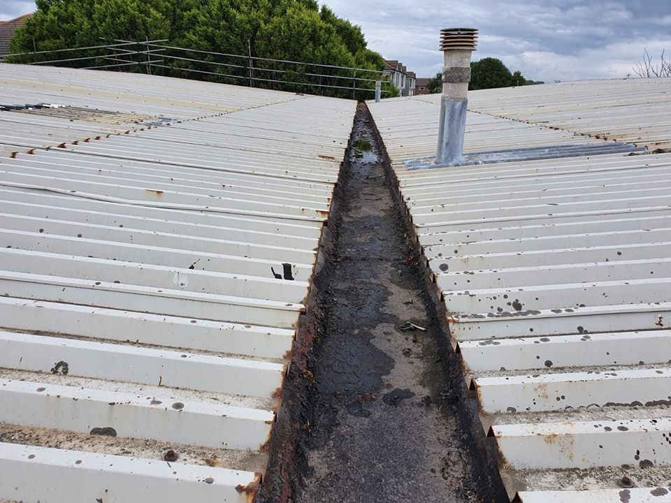 Commercial Warehouse roof Over Roofing in Littlehampton, West Sussex
