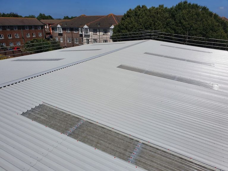 Over Roofing to a Warehouse roof in Littlehampton, West Sussex