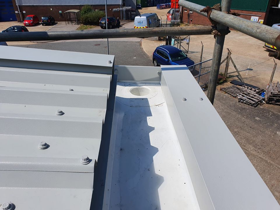 Over Roofing to an Industrial Warehouse roof in Littlehampton, West Sussex