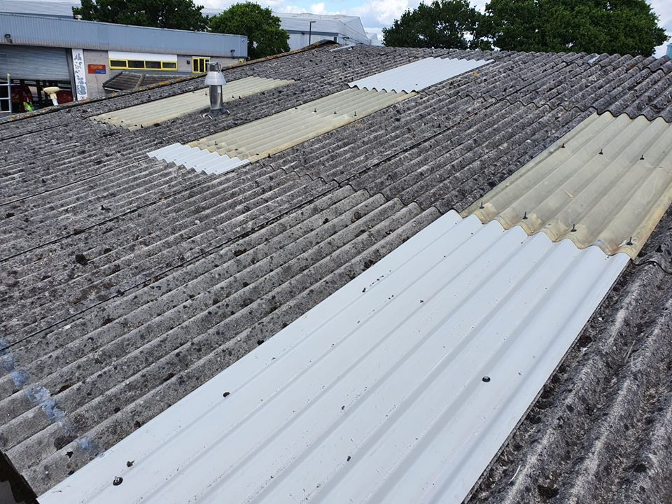 Roof Repairs to a Workshop roof in Crawley West Sussex