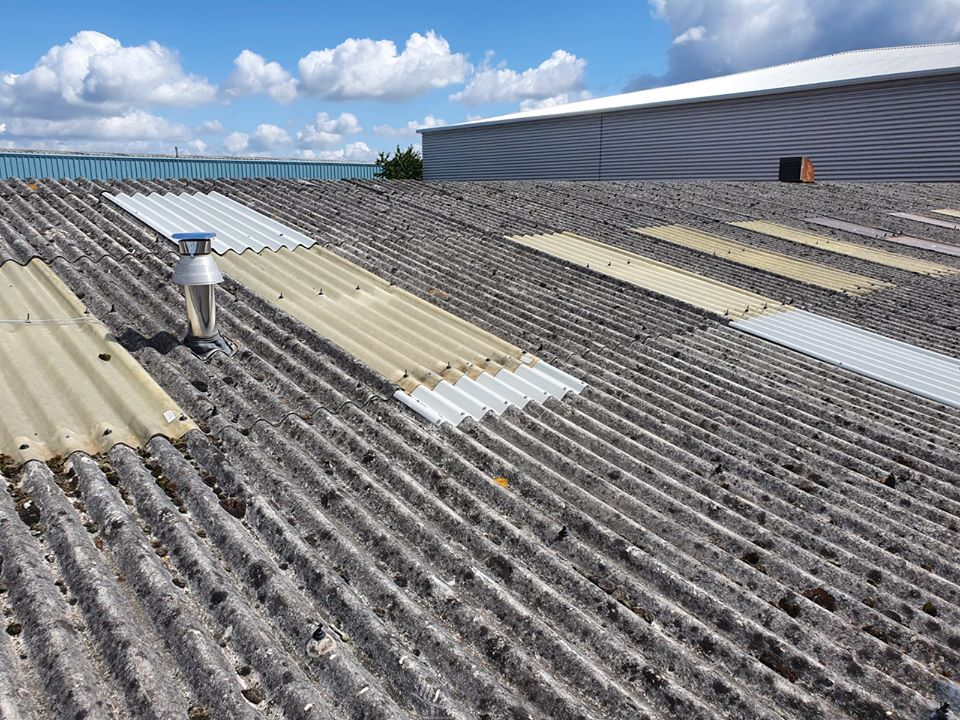 repair work to a Workshop roof in Crawley West Sussex