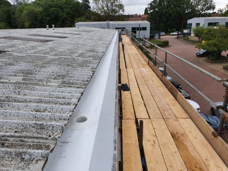 Repair Work to a Warehouse and Office Roof in Tadworth, Surrey
