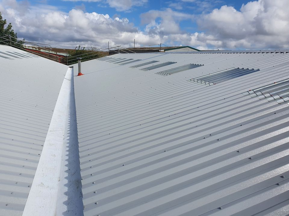 over-roofing to a warehouse roof in Chichester