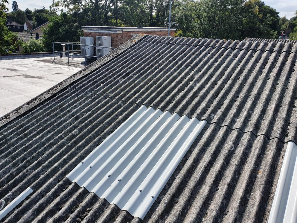 Repair work to a Gym roof in Maidstone Kent