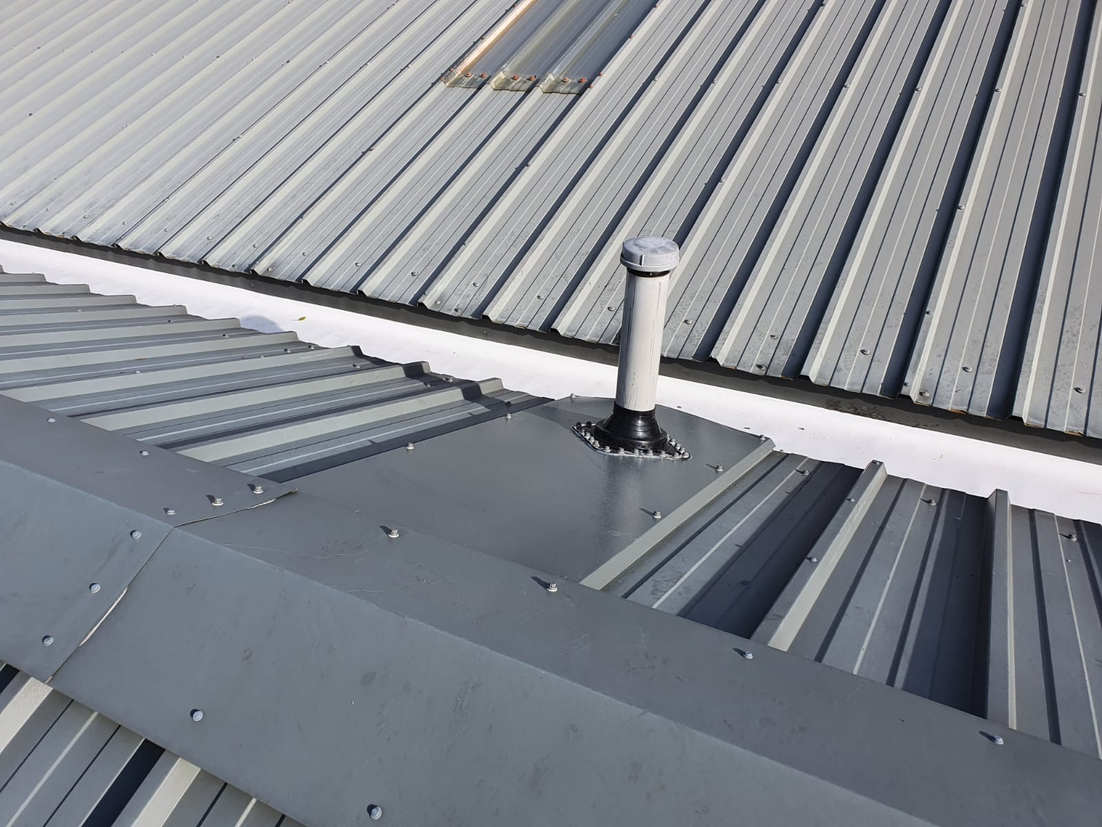 Leaking gutter replacement office roof in Bearstead Maidstone Kent