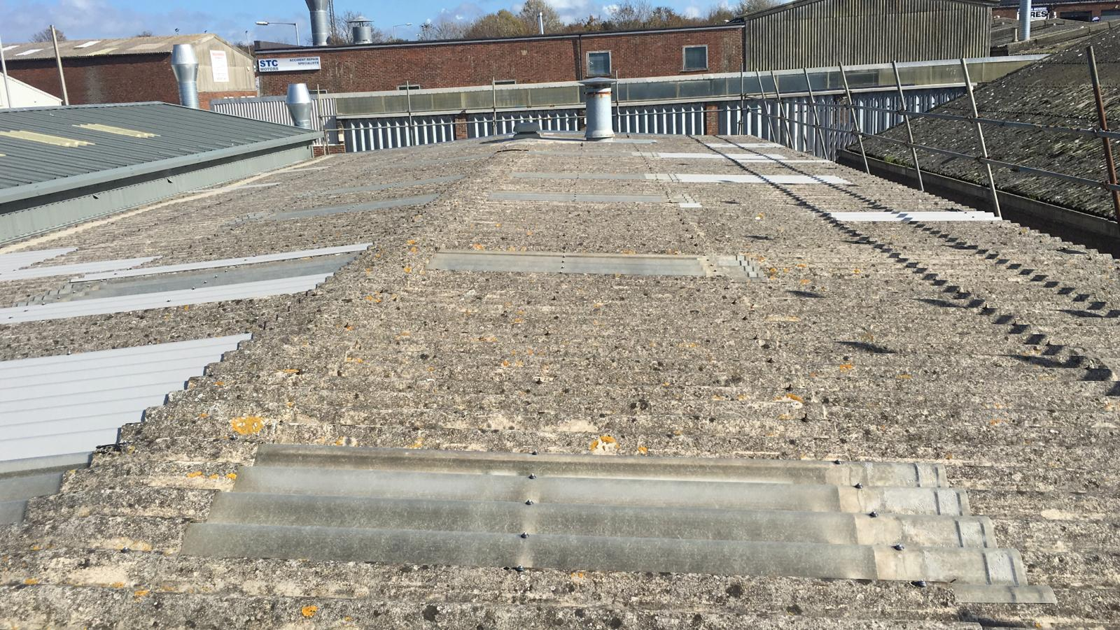 Repair to a Workshop roof in Seaford East Sussex