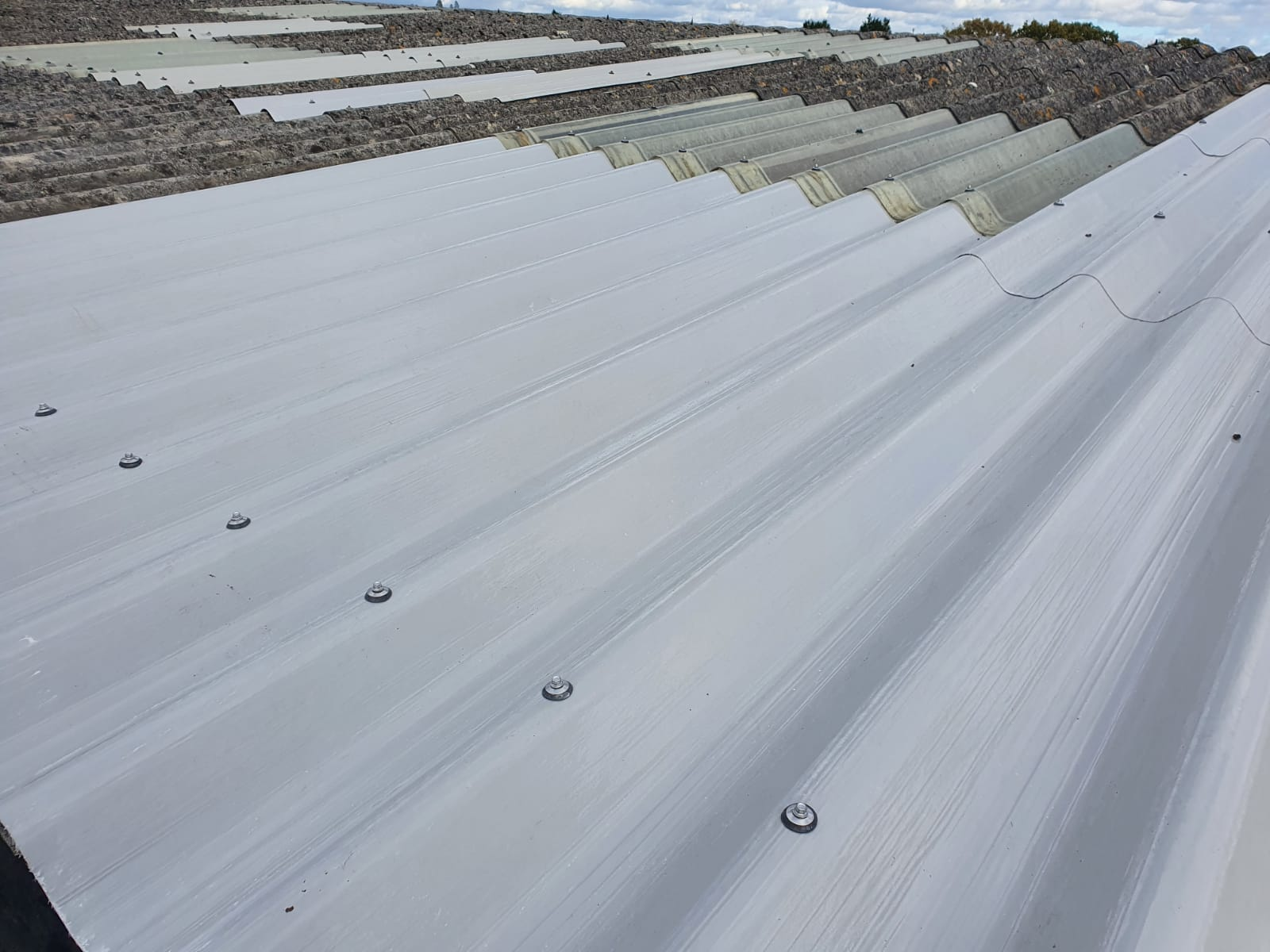 Repair work to a Factory roof in Burgess Hill West Sussex