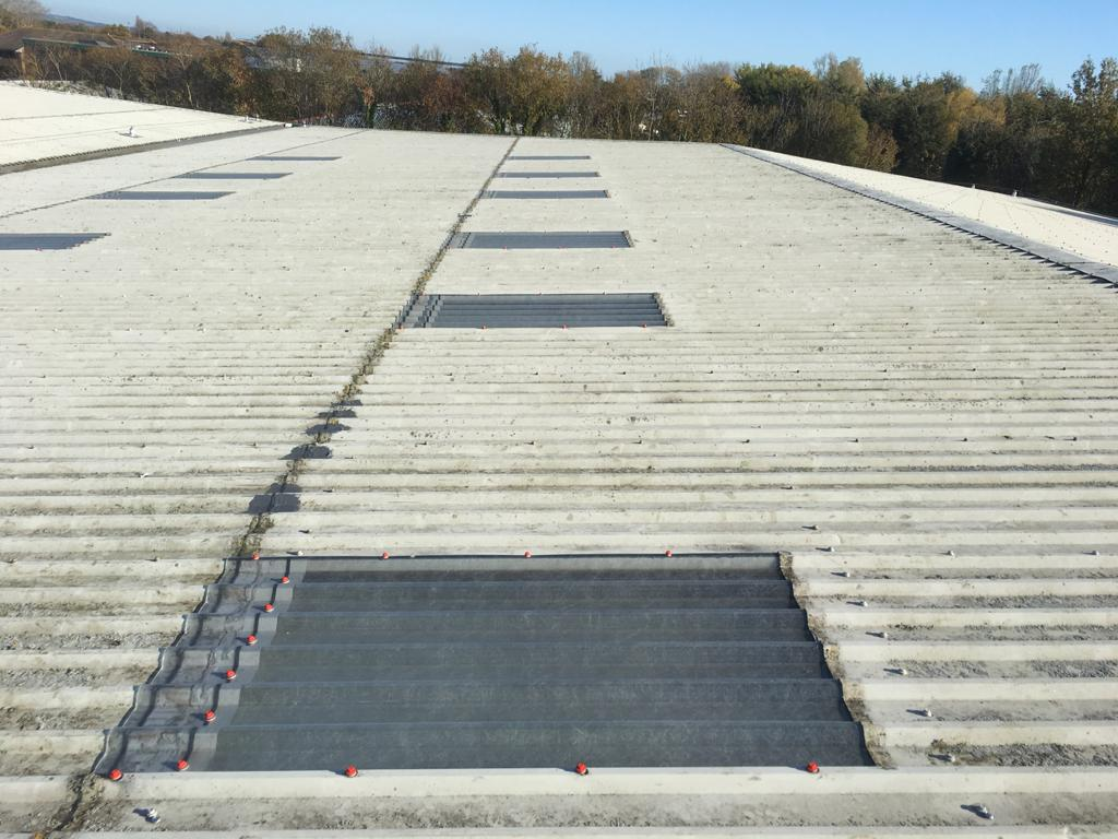 Rooflights replacement to a warehouse office roof in Littlehampton West Sussex