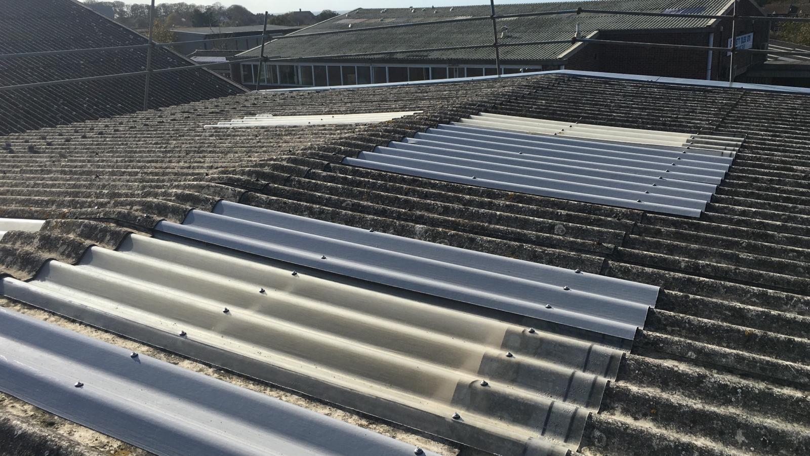 Workshop roof repair in Seaford East Sussex