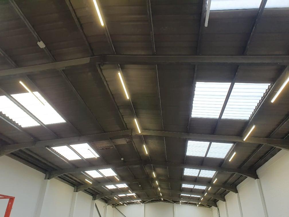 Factory roof in Dagenham Essex