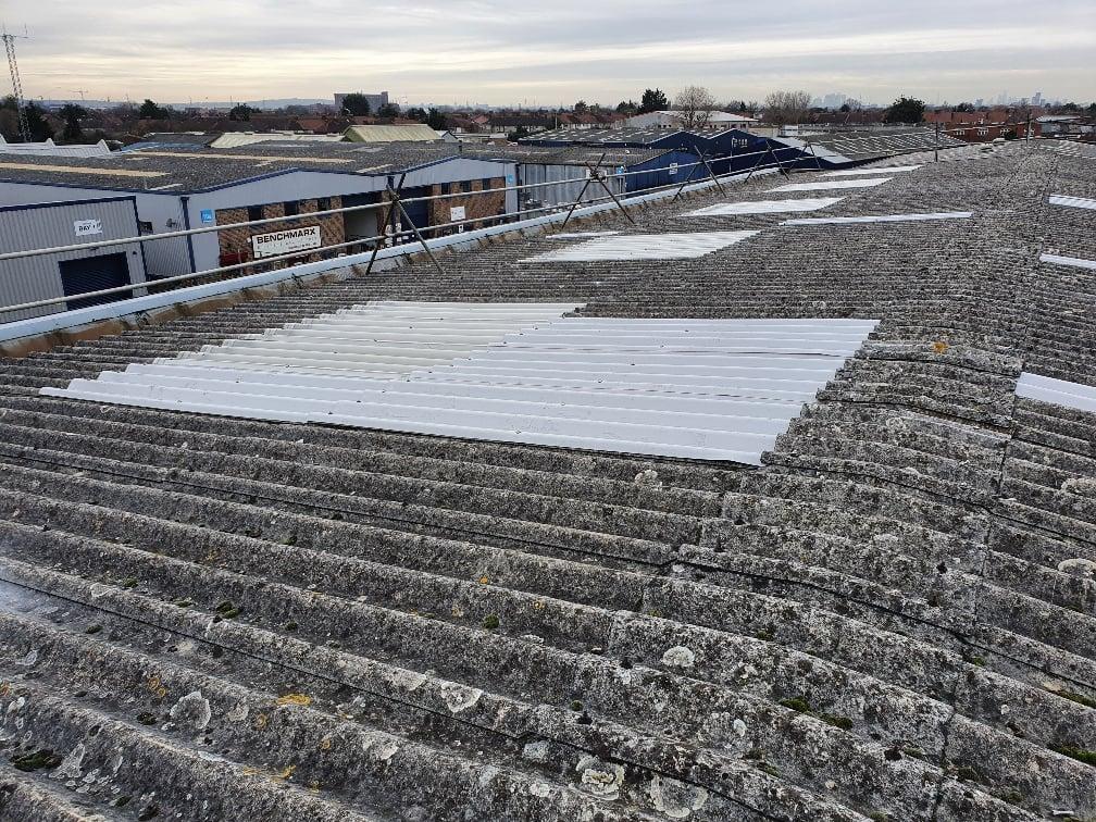 Warehouse rooflights in Dagenham Essex