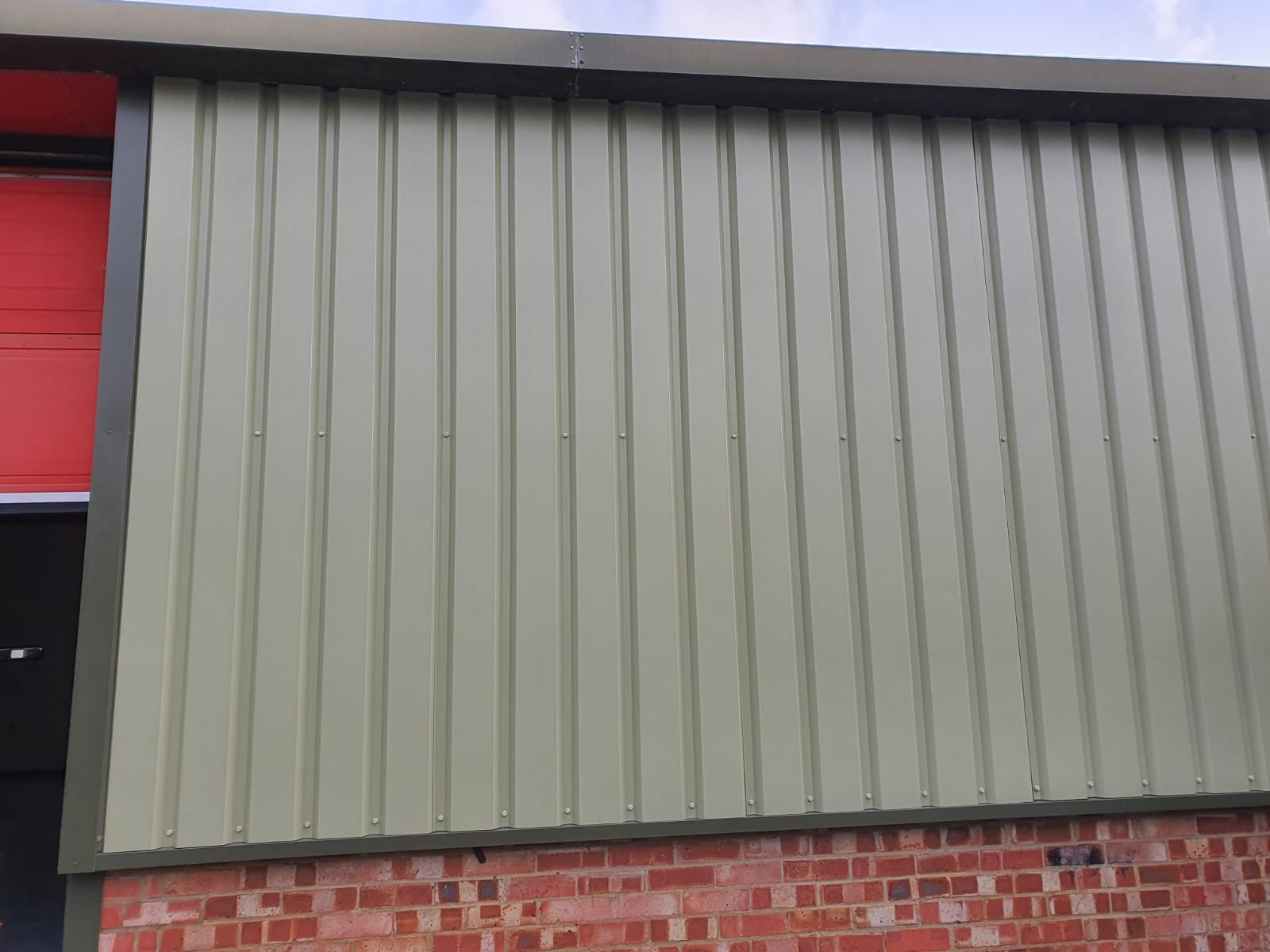 Cladding repair to a factory in Burgess Hill West Sussex