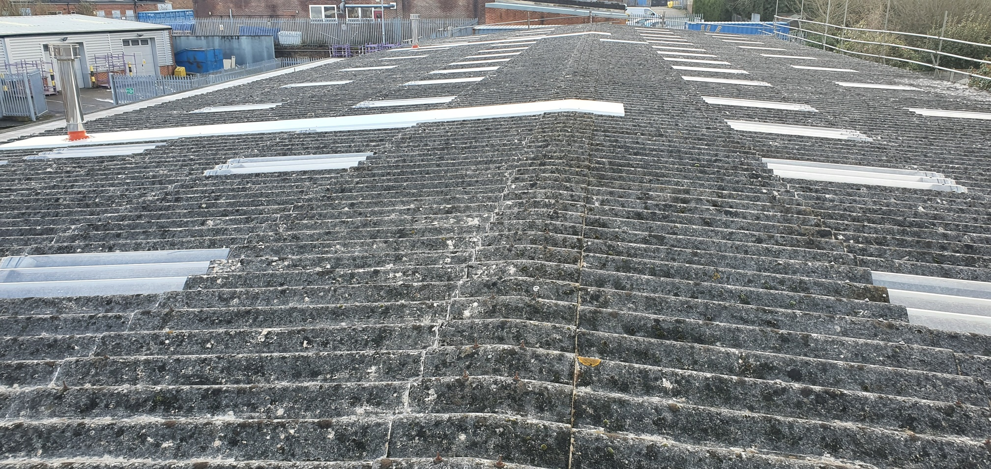 Factory roof repair and roof lights in East Grinstead West Sussex