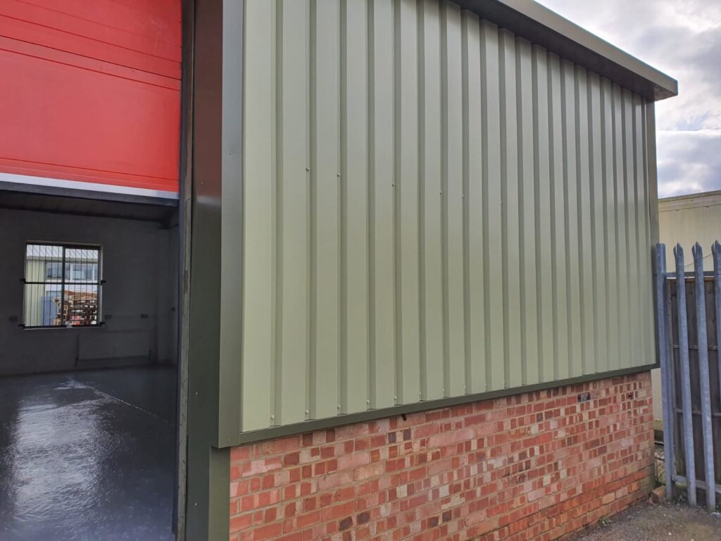 Vertical cladding contract in Burgess Hill West Sussex