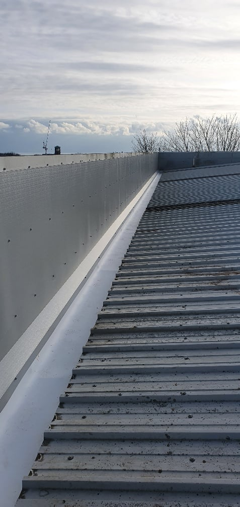 Warehouse and office roof in repair in Hove West Sussex