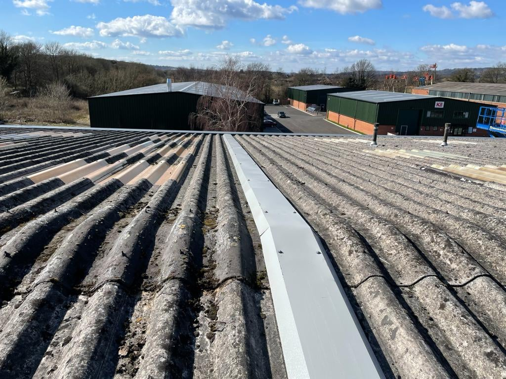Leaking Roof on a warehouse roof in Sevenoaks Kent