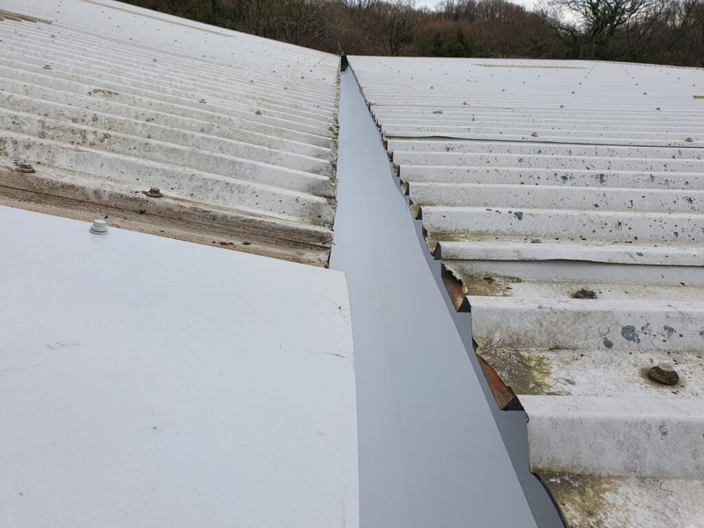 Repair work to a Warehouse and Office roof in Hailsham East Sussex